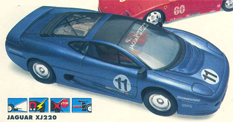 Scalextric Cars Pair of Grey Wing Mirrors for Jaguar XJ220 NEW